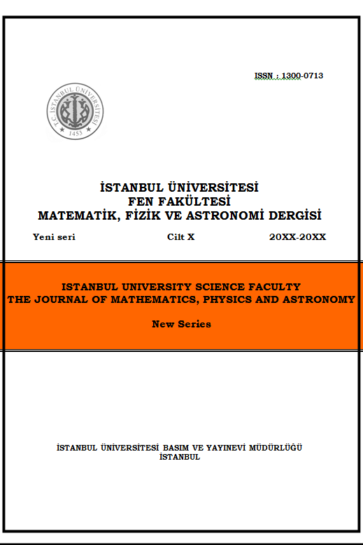 İstanbul University Science Faculty The Journal Of Mathematics, Physics and Astronomy