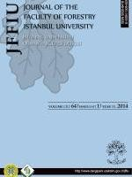 İstanbul Üniversitesi Orman Fakültesi Dergisi